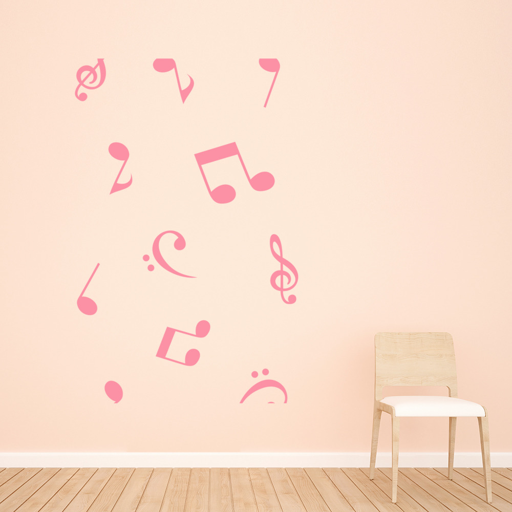 musical notes wall stickers music wall decal art ebay. Black Bedroom Furniture Sets. Home Design Ideas