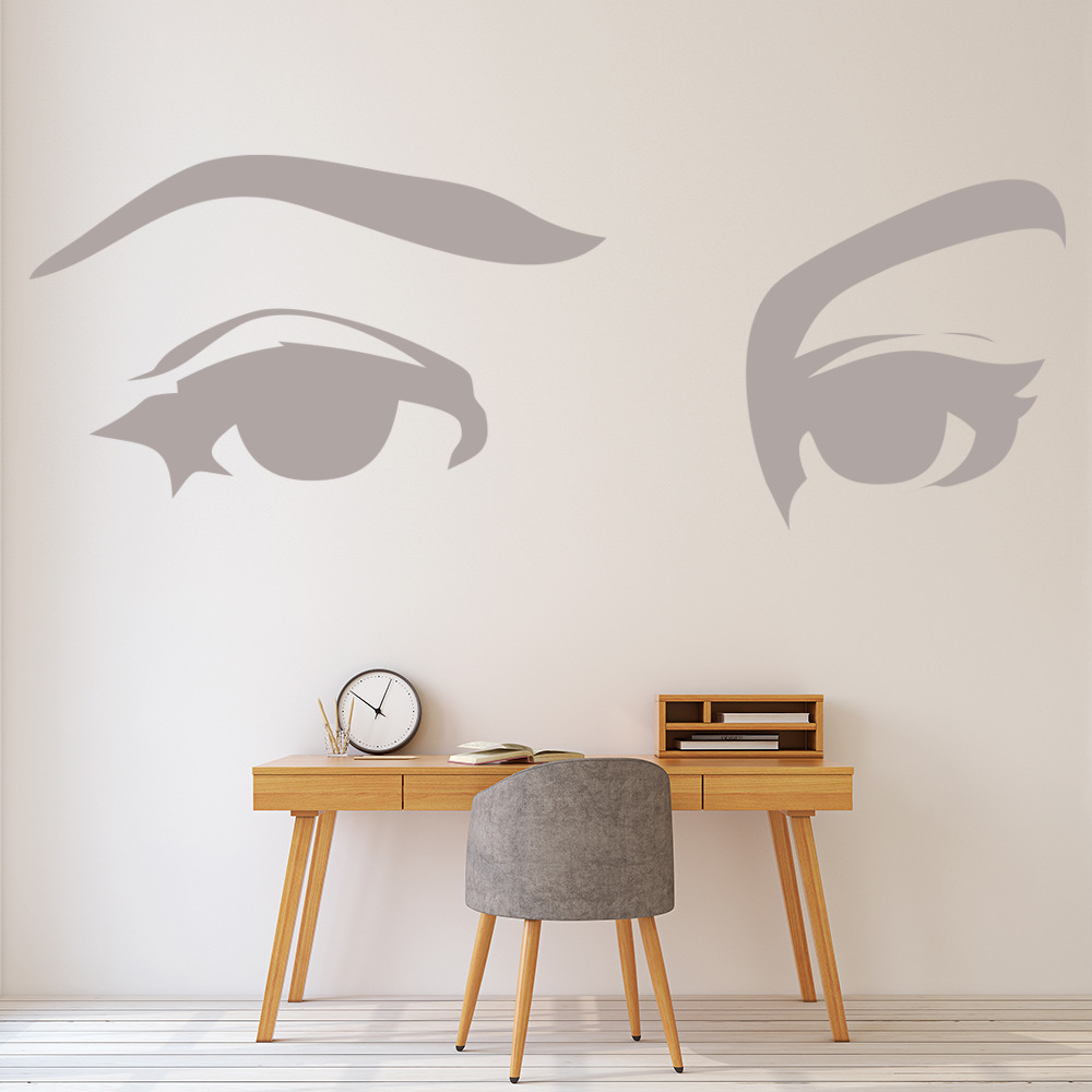 Wall Art Stickers Eyes : Female eyes wall sticker decal art