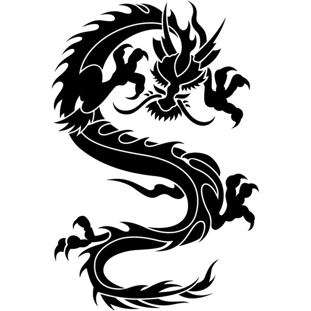 oriental attacking dragon wall sticker dragon wall decal