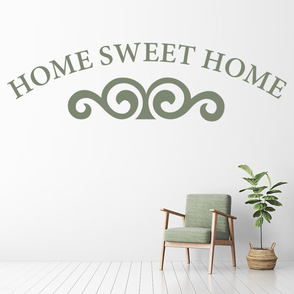 Home sweet home wall sticker home decor wall decal art ebay Home sweet home wall decor
