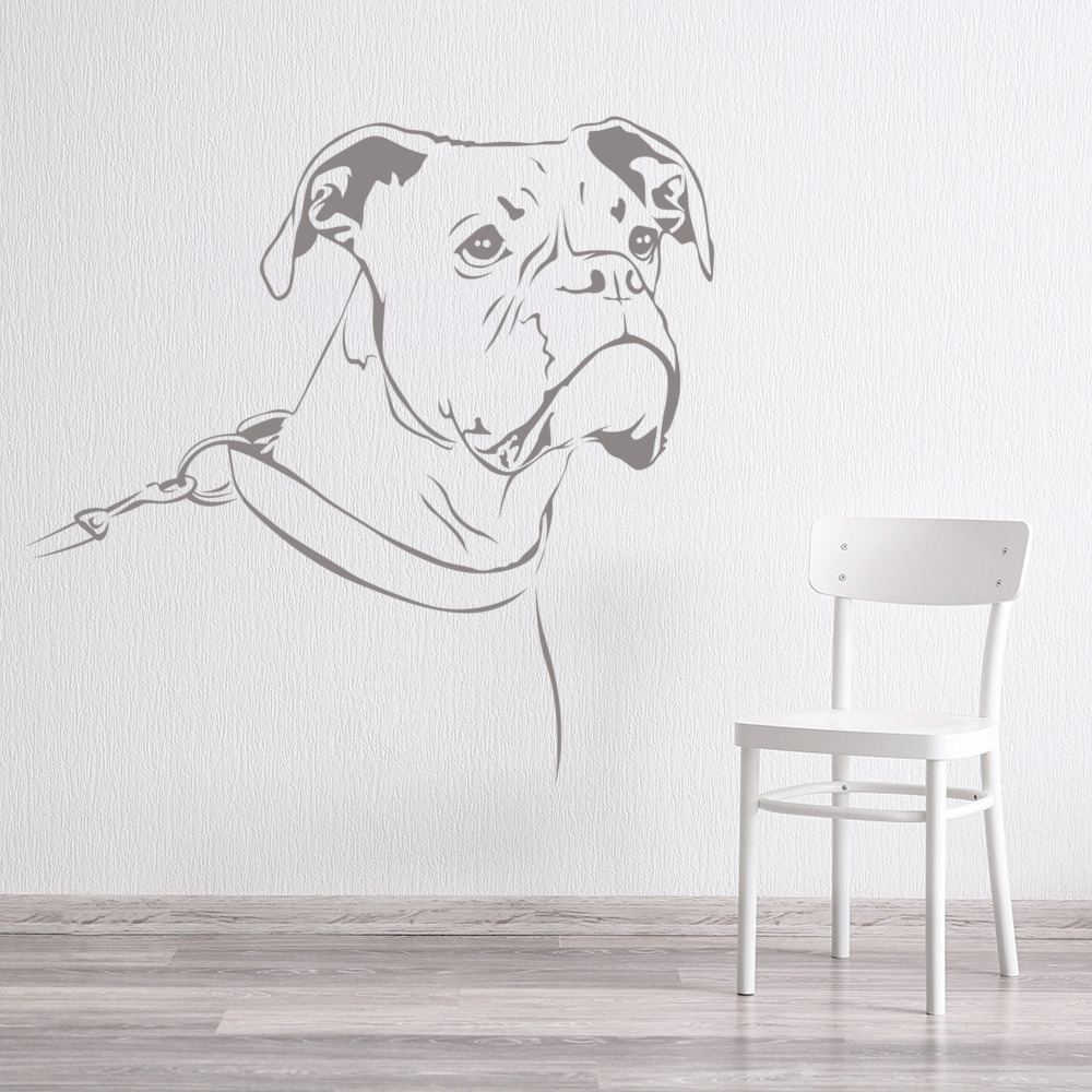 boxer portrait wall sticker dog wall art dog wall stickers related keywords amp suggestions dog