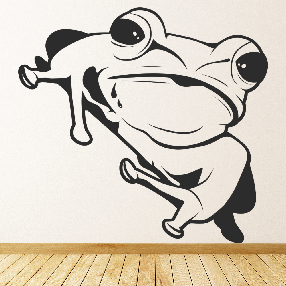 sitting frog wall sticker animal wall art up to 75 off frog magnetic wall sticker