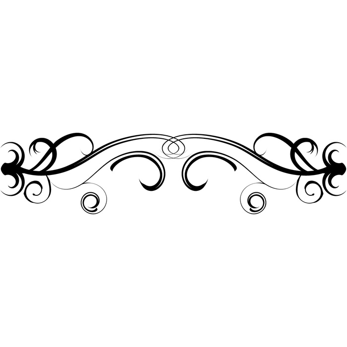 Floral Swirl Embellishment Wall Sticker Decor Wall Decal