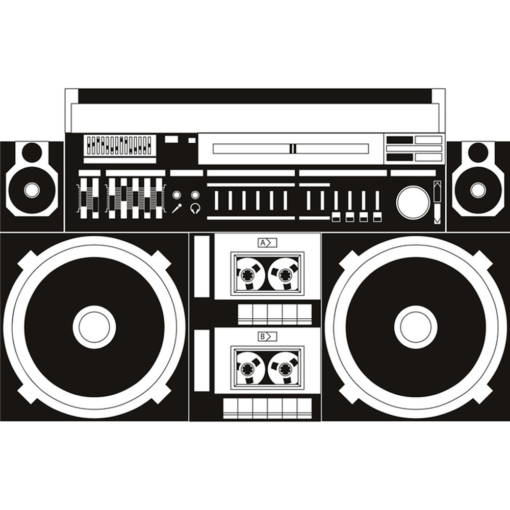 Hifi Wall Sticker Music Wall Art