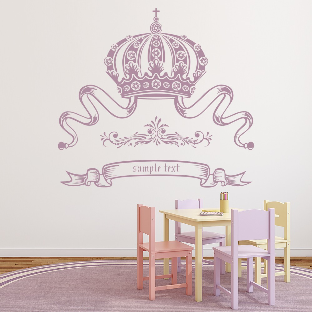 custom crown wall sticker custom wall art