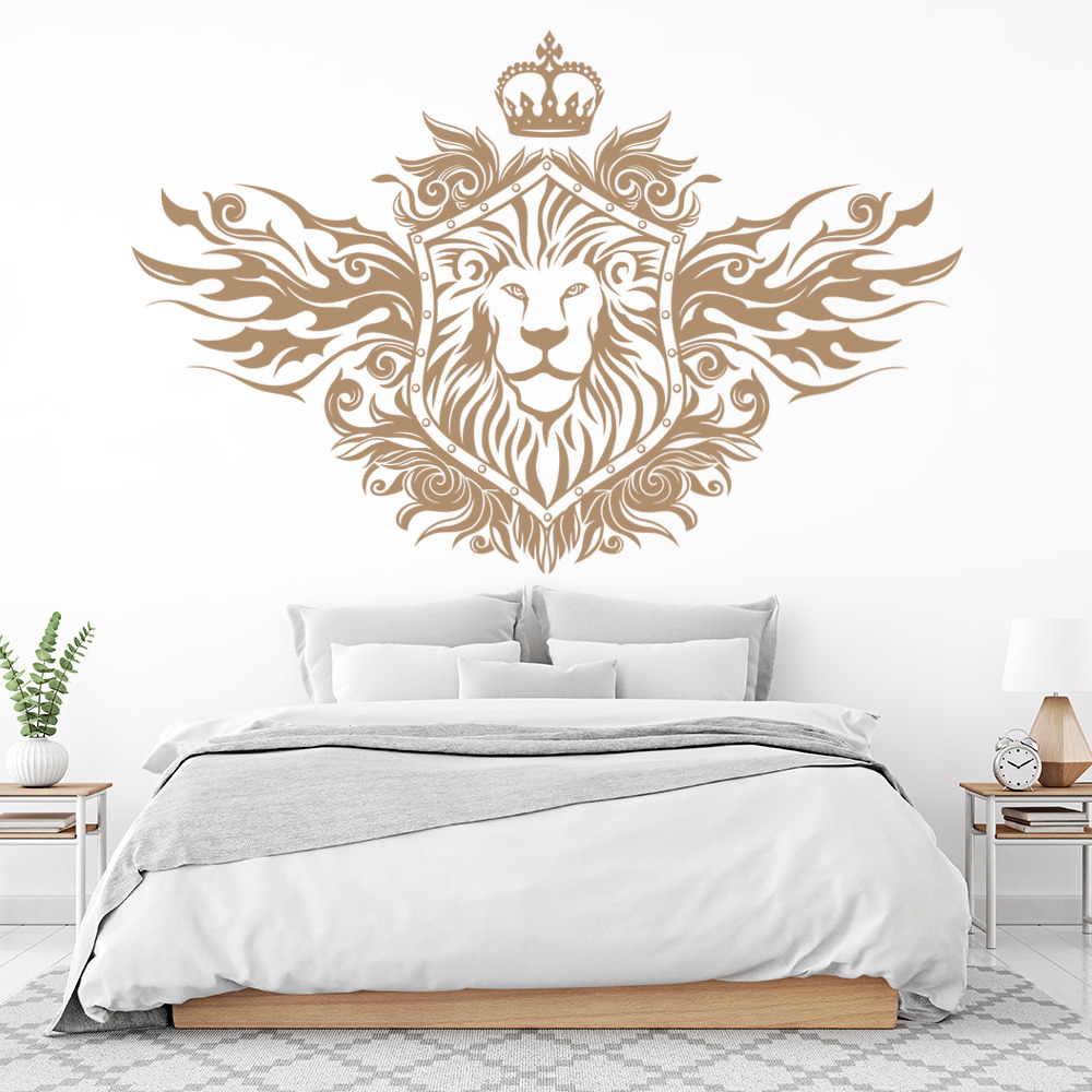 Lion Shield Decorative Wall Decal Art Stickers Wall Decal ...