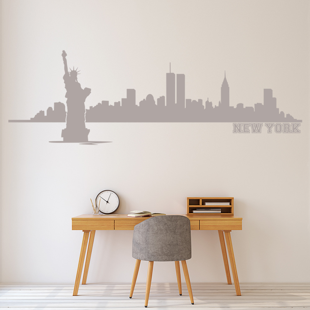 Famous New York Skyline Wall Art Vignette - Wall Art Design ...