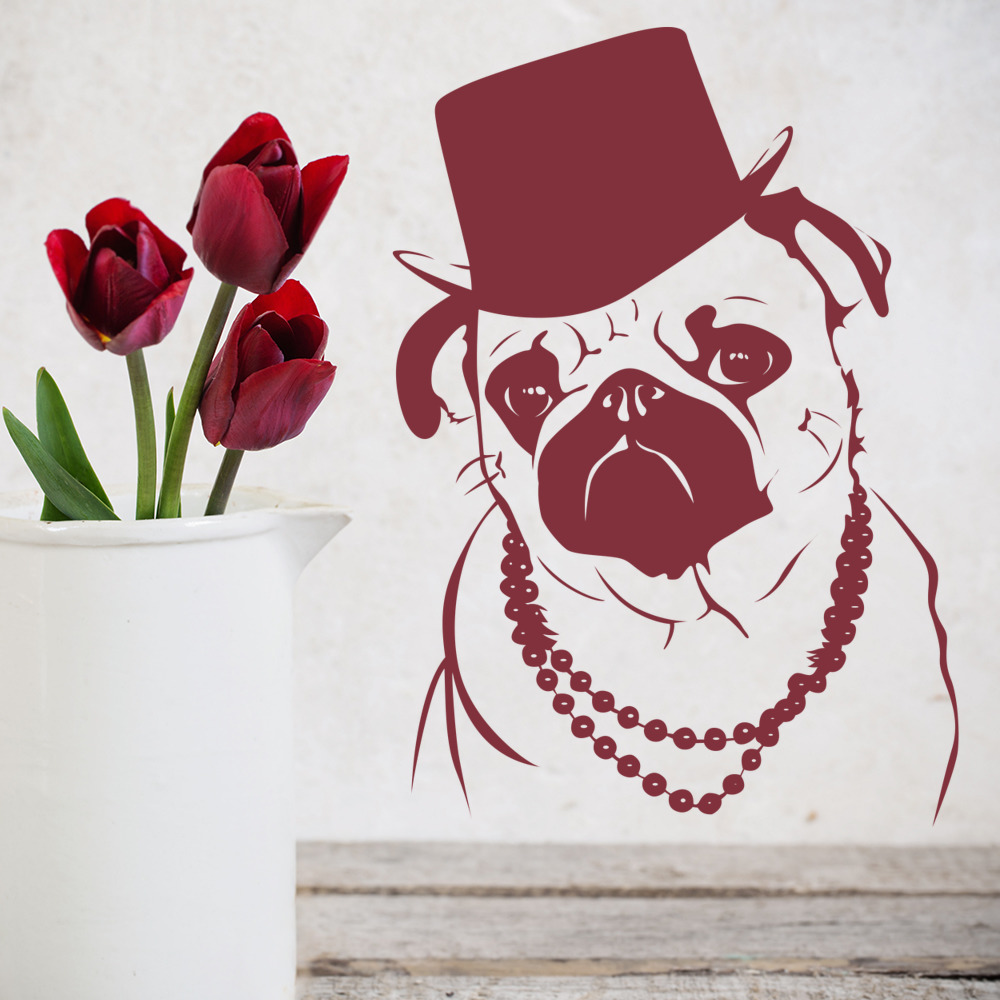 Cool Dog Decorative Wall Decal Art Stickers Decal eBay