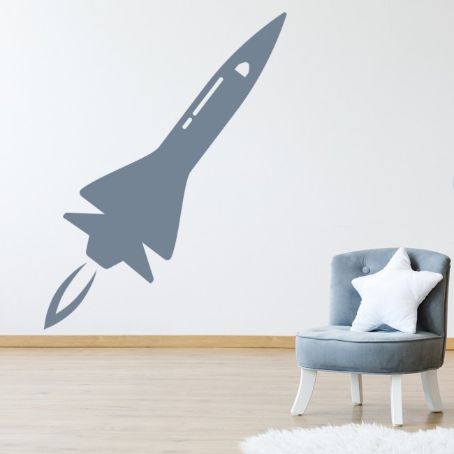 space rocket wall stickers space wall art rocket wall stickers for kids ethical market