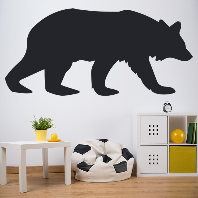 Home bear silhouette wall sticker animal wall art