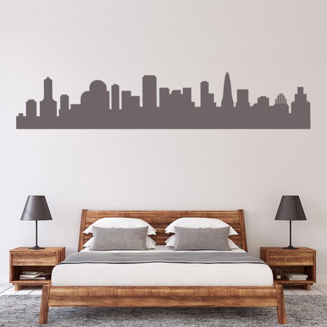 city scape skyline wall sticker skyline wall art wall stickers city skylines olpos design