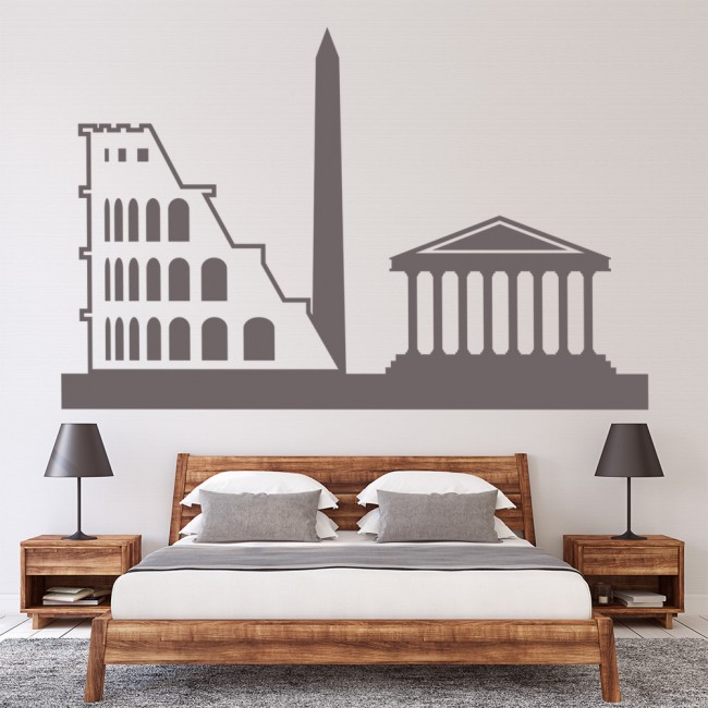 Rome skyline wall stickers landmark wall art for Wall stickers roma