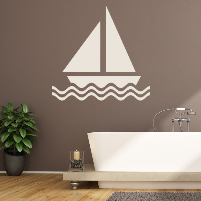 yacht wall sticker boat wall art sailing boat nursery wall stickers