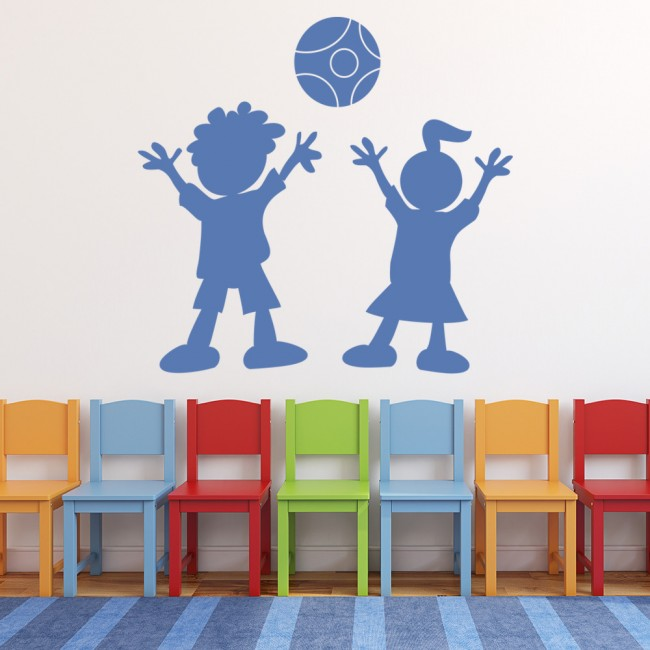 children playing wall stickers children s wall art childrens kids themed wall decor room stickers sets