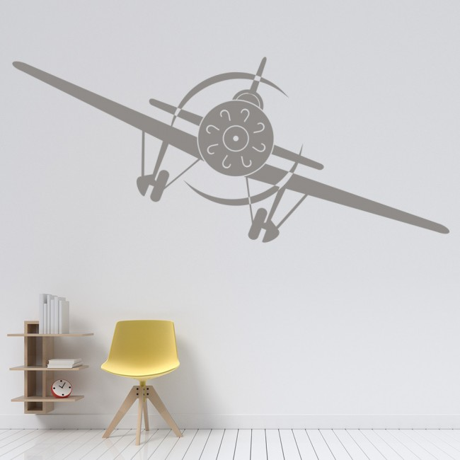 Aeroplane front wall sticker airplane wall art for Airplane wall decoration