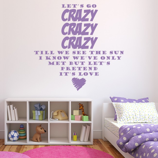 one direction wall sticker live while were young wall art. Black Bedroom Furniture Sets. Home Design Ideas