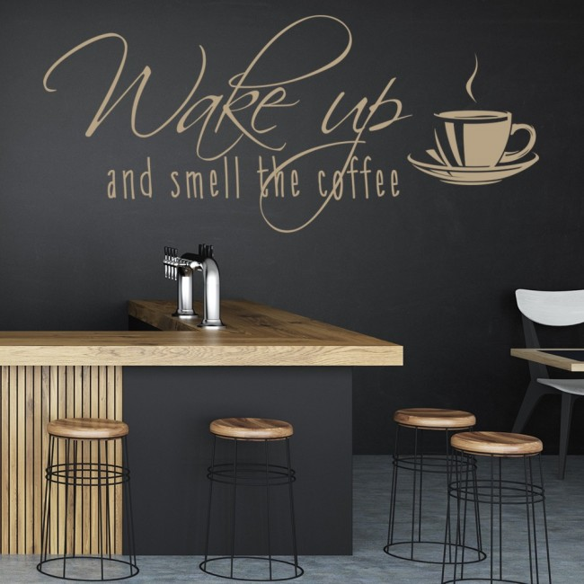 Smell The Coffee Wall Sticker Coffee Wall Art