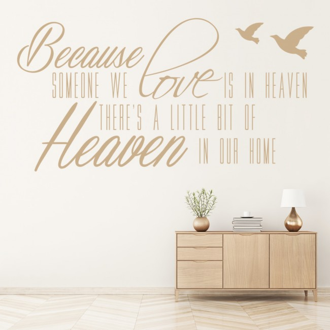 because someone we love is in heaven wall art religious wall sticker. Black Bedroom Furniture Sets. Home Design Ideas
