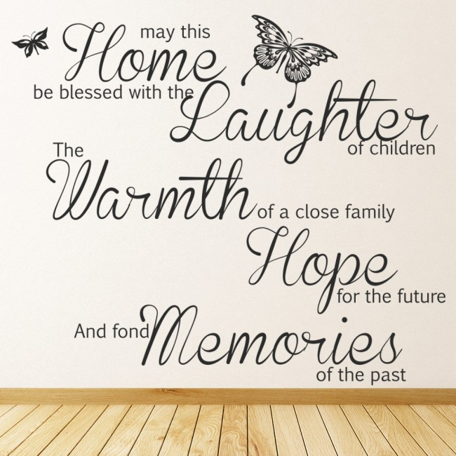 May this home be blessed wall art quote wall sticker for Best quotes for wall art