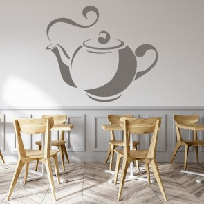 Tea Pot Wall Sticker Kitchen Wall Art