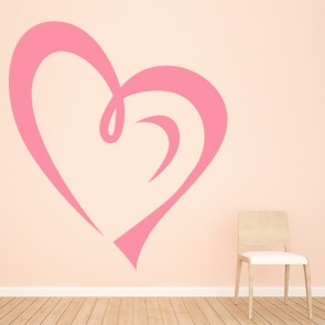 Love Heart Outline Wall Sticker Love Heart Wall Art