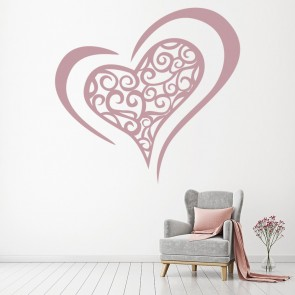 Swirl Love Heart Wall Sticker Love Heart Wall Art