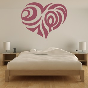 Tribal Patterned Heart Wall Sticker Heart Wall Art