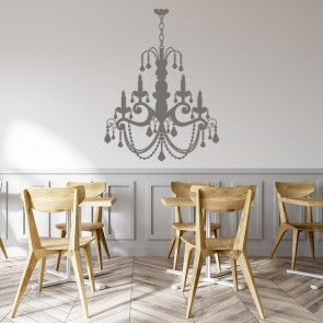 Grand Old Fashioned Candle Chandelier Wall Sticker Decorative Wall Art