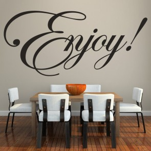 Enjoy Wall Sticker Text Wall Art