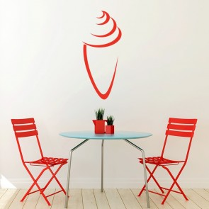 Ice Cream Cone Outline Wall Sticker Food Wall Art