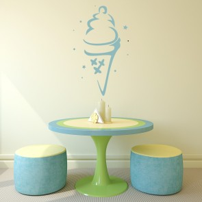 Ice Cream Cone Wall Sticker Food Wall Art
