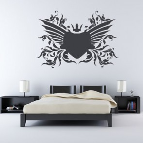 Floral Winged Love Heart Wall Sticker Love Wall Art
