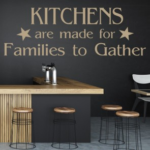 Kitchens Are Made For Families Wall Sticker Family Wall Art