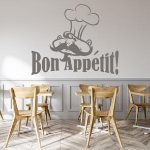 Bon Appetit Wall Sticker Chef Wall Art