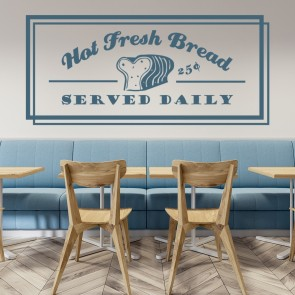 Hot Fresh Bread Wall Sticker Kitchen Quote Wall Art