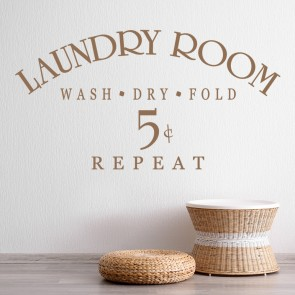 Laundry Room Wash Dry Fold Wall Sticker Home Wall Art