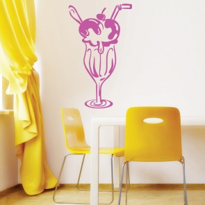 Knickerbocker Glory Wall Sticker Food Wall Art