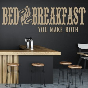 Bed And Breakfast You Make Both Wall Stickers Kitchen Wall Art Decal