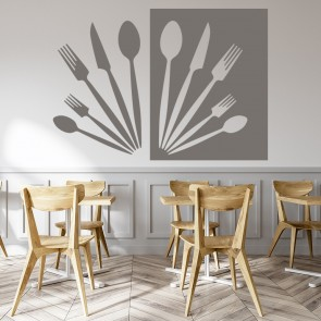 Cutlery Wall Sticker Kitchen Wall Art
