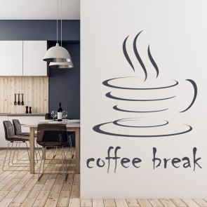 Coffee Break Wall Sticker Coffee Wall Art