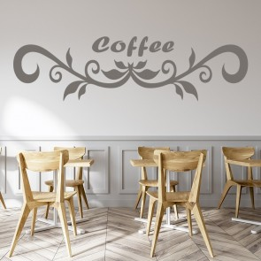 Coffee Text Header Wall Sticker Sign Wall Art