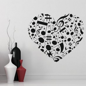 Musical Heart Wall Sticker Music Wall Art