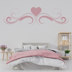 Heart Embellishment Heading Wall Sticker Floral Wall Art