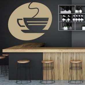 Espresso Mug Wall Sticker Cafe Wall Art