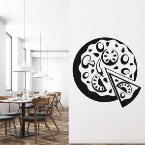 Pizza Print Wall Sticker Food Wall Art