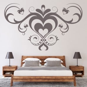Heat Embellishment Wall Sticker Heart Wall Sticker