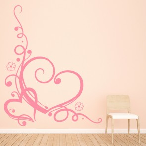 Swirl Love Heart Wall Sticker Heart Wall Art