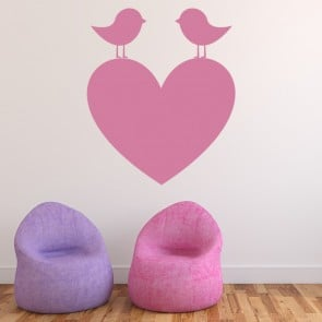 Birds On A Heart Wall Sticker Love Wall Art