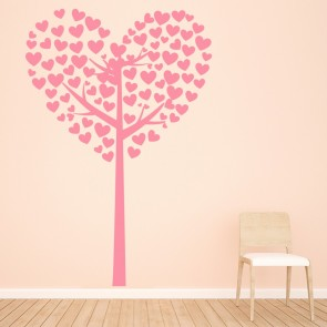 Love Heart Tree Wall Sticker Love Wall Art