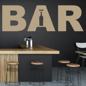 Bar Text Wall Sticker Sign Wall Art
